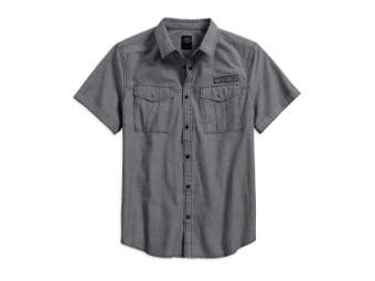 Hemd Double Pocket Denim Woven