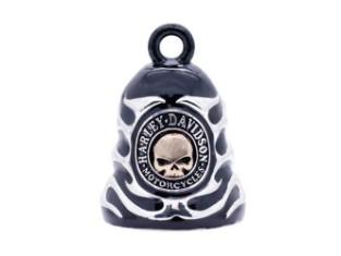 Skull & Flames Black Ride Bell