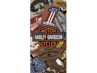 Badetuch Harley Patches