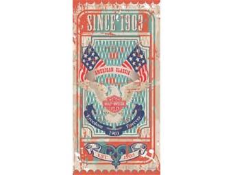 Badetuch Harley Vintage Stamp