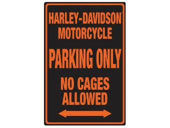 HD Black No Cages Sign