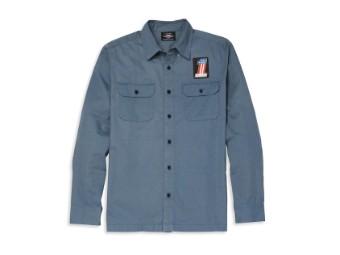 Shirt-Woven,blue