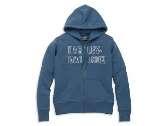 Hoodie-Knit,blue