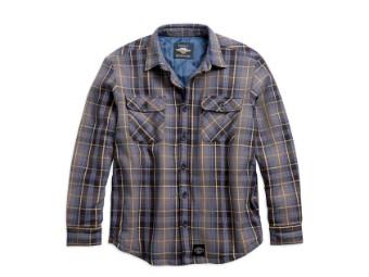 Shirt Jacket-Woven,Plaid,Slim