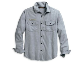 Shirt-Felt Logo,Snap UP,L/S,WV