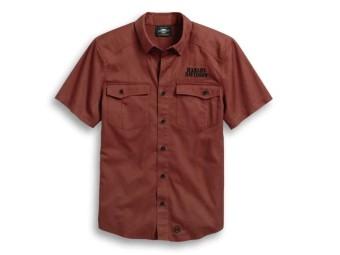 Shirt-Circle Logo,S/S,Wvn,Drk