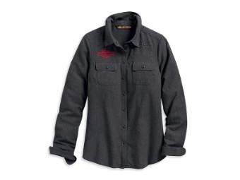 Shirt-Stud & Chain Stitch,L/S,