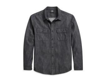 Shirt-Denim,black,Slim