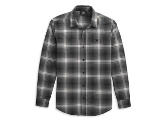 Shirt-Woven,black/grey Plaid
