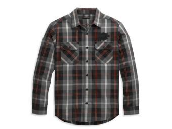 Shirt-Woven,black/grey/orange