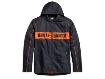 Jacket-Woven,black/orange