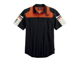 Shirt-Coolcore,S/S,Wvn,Clrblk