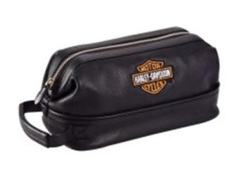Leather Toiletry Kit - Black