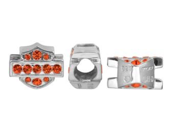 Ride Bead Orange Crystal B&S