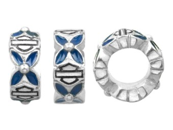 Ride Bead Blue Flower Spacer