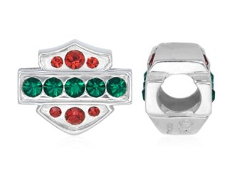 Ride Bead Red and Green Holiday