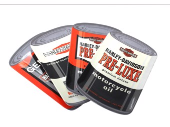 H-D Oil Can Snack Plate Set