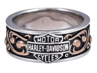 Ring H-D Herald B&S Band w/Rose Gold