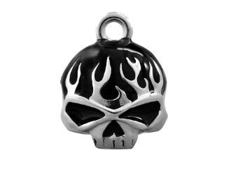 Black Flame Skull Ride Bell