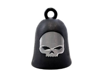 HD Black Matte Skull Ride Bell