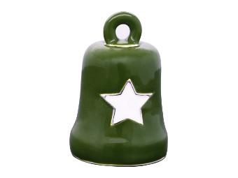 Green & White Star Ride Bell