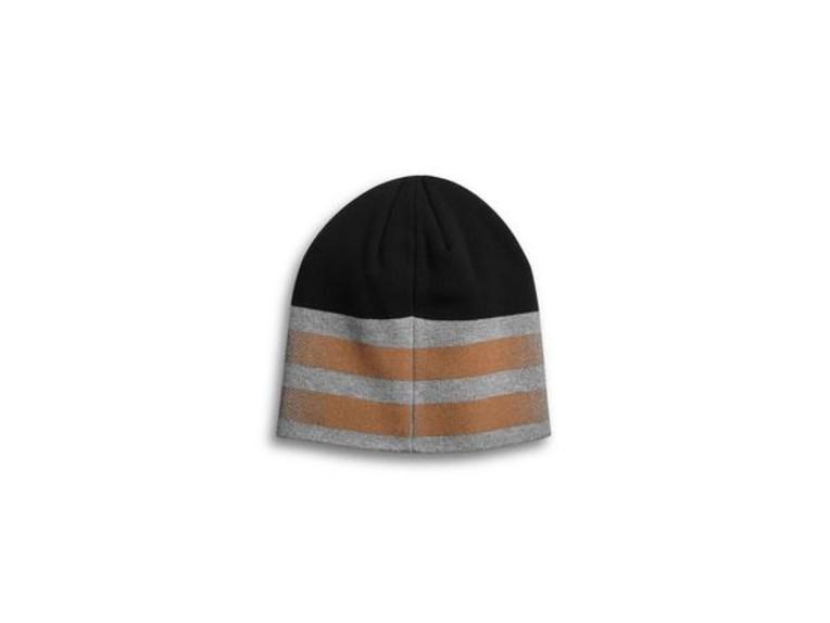 97617-20VM, Hat-Dual Stripe,Knt,blk