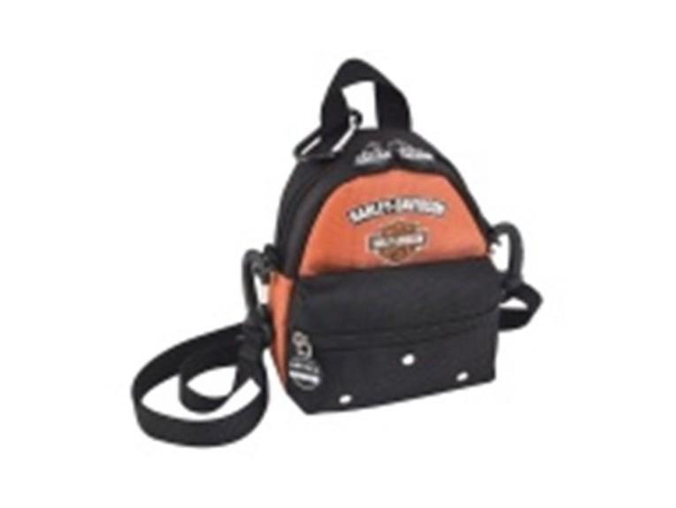99668-RUST BLACK, Mini Me Backpack Rust/Bl