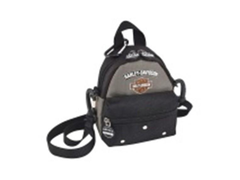 99668-SILVER/BLACK, Mini Me Backpack Silver/Bl