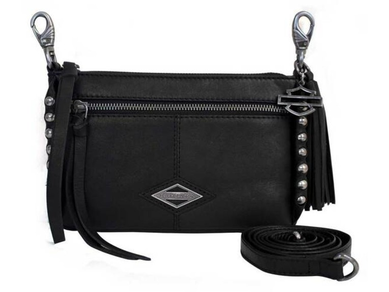 BC6145L-BLACK, Ball & Chain Horizontal Hipbag
