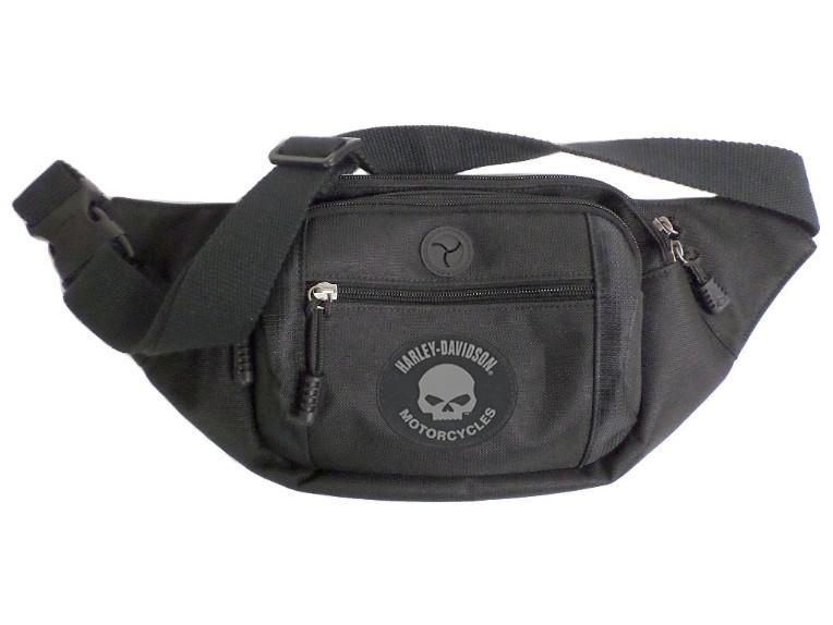 BP2252S-GRYSKULL, Skull Crossbody Waist Pack