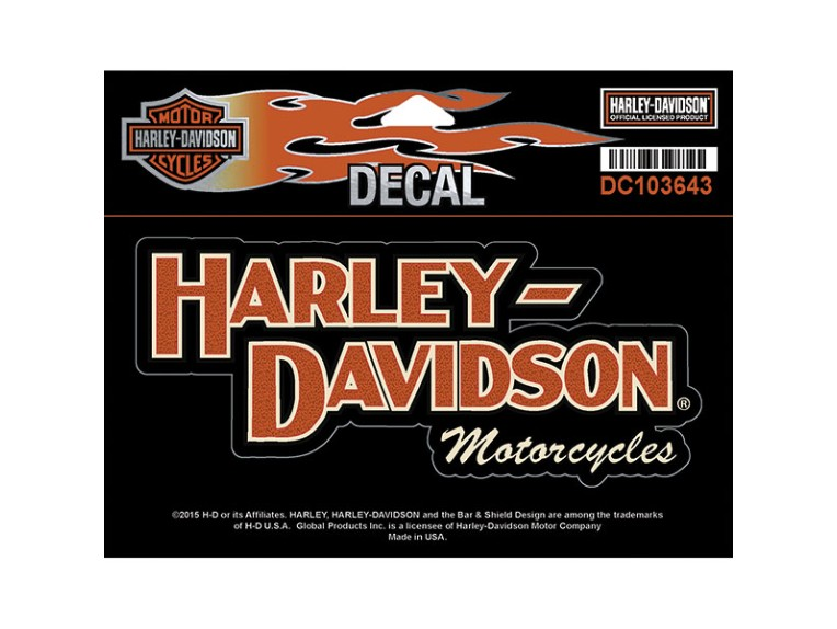 """DC103643, Decal, Block H-D Name, MD, 6""""W x 3""""H"""