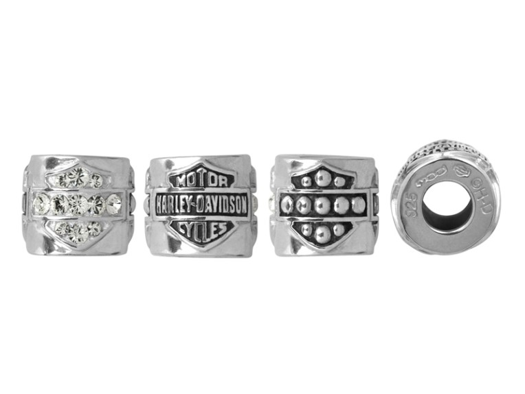 HDD0033, Bling, Studded Text B&S Ride Bead