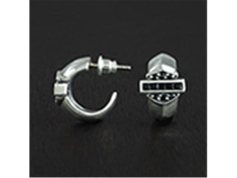 HDE008CZ, Earring Silver Zirconium
