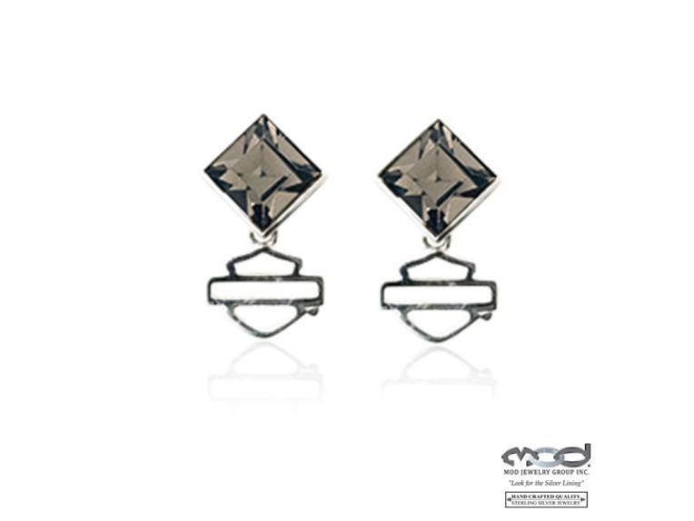 HDE0360, Black Ice Diamond Earrings