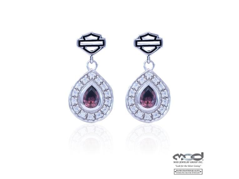 HDE0394, Earrings Rhodolite Teardrop