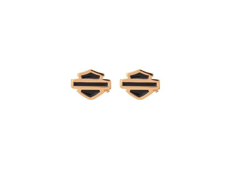 HDE0485, Gold Plated Blue B&S Post Earrings