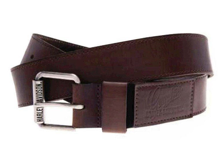 HDMBT10795-34, Ape Hanger Stretch Belt-Brown