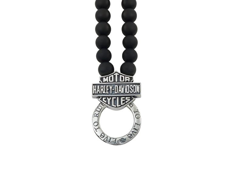 HDNL050O, H-D Necklace Onyx