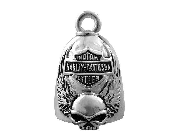 HRB038, Skull with Wings Ride Bell