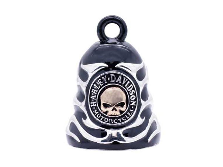 HRB083, Skull & Flames Black Ride Bell