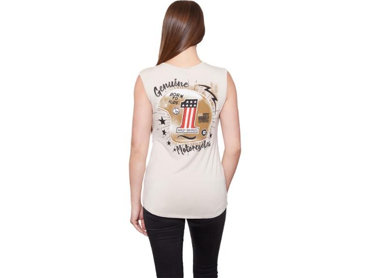 HT4501KHA -S, Damen T-Shirt Ride Proud