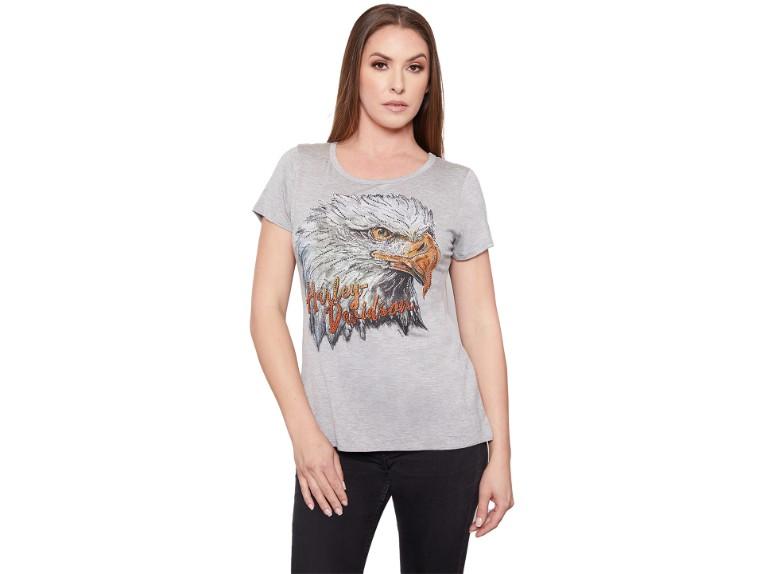 HT4511HGY-S, Damen T-Shirt Wild Max