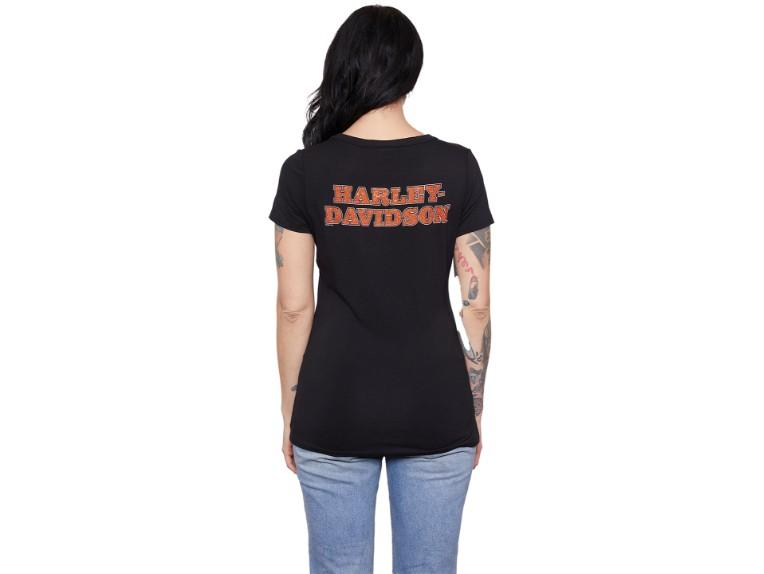 HT4575BLK-S, Damen T-Shirt Overseal