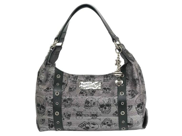 SC2551J-BLACK, Chrome Skull Jacq Shoulder Bag