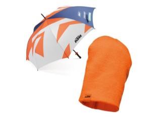 Geschenke Set 04 - Regenschirm & Beanie