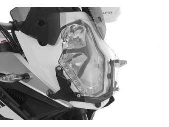 Scheinwerferschutz Makrolon mit Schnellverschluss, Halter schwarz