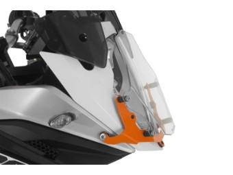 Scheinwerferschutz Makrolon mit Schnellverschluss, Halter orange
