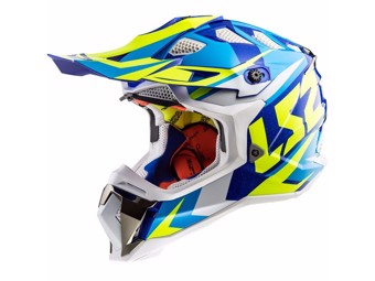 Helm - MX470 Subverter Nimble White Blue Yellow