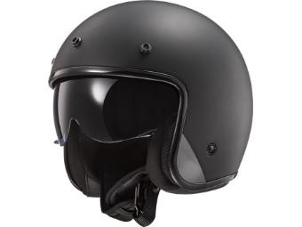 Helm - OF601 Bob solid Jethelm matt black