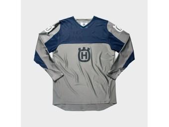 Railed Shirt Grey - Langarm Shirt